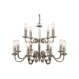 image-Richmond 12 Light Ceiling Light In Satin Silver