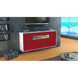 image-Tenterden Sideboard Brayden Studio Colour (Body/Front): White Mat/Red