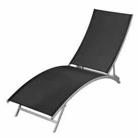 image-Sun Lounger Steel And PVC-coated polyester Black Sol 72 Outdoor