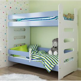 image-Larson High Sleeper Bed Isabelle & Max Colour (Bed Frame): Blue, Size: European Toddler (80 x 180 cm)