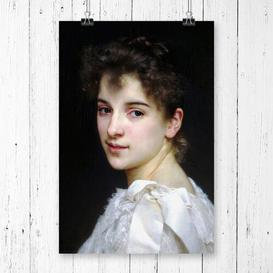 image-'Gabrielle Cot' by William Adolphe Bouguereau Graphic Art East Urban Home Size: 84.1 x  33.1cm