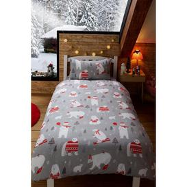 image-Polar Bear Reversible Duvet Set