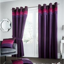 image-Geise Eyelet Room Darkening Curtains Brayden Studio Colour: Plum, Size per Panel: 229 W x 229 D cm