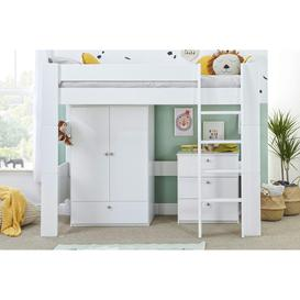 image-Bloc High Sleeper with Wardrobe and Chest