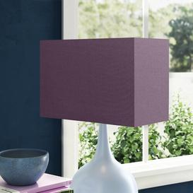 image-Cotton Rectangle Lamp Shade Wayfair Basics Colour: Mauve Purple, Size: 24cm H x 35cm W x 18cm D