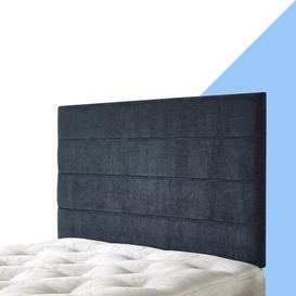 image-Pari Upholstered Headboard Hashtag Home Size: Super King (6'), Upholstery: Marine