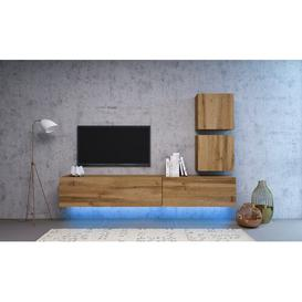"""image-Hartsville Entertainment Unit for TVs up to 55\"""" Ebern Designs Colour: Oak"""
