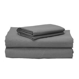 image-Brune 150 Thread Count 100% Cotton Sheet Set Ebern Designs Colour: Grey