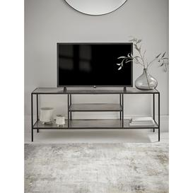 image-NEW Textured Topped Metal Media Unit - Burnished Silver
