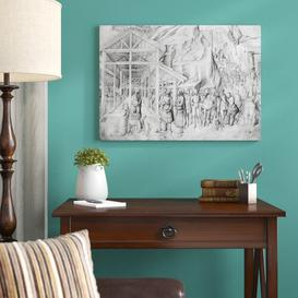 image-Adoration of The Magi from The Giovanni Bellini's Album of Drawings by Giovanni Bellini - Picture Frma Art Print on Paper East Urban Home Size: Large