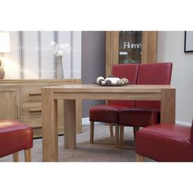 image-Trend Solid Oak Furniture Small Dining Table 125cm