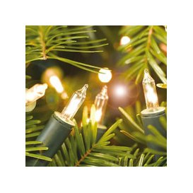 image-20, 40, 100 Shadeless Clear Christmas Fairy Lights with Green Cable [100]