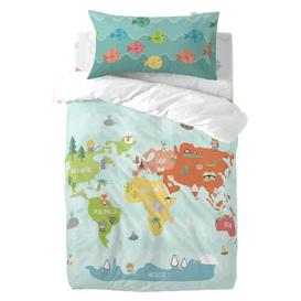 image-Zeigler 150 Thread Count 100% Cotton Fitted Sheet Isabelle & Max Size: Toddler (70 x 140cm)