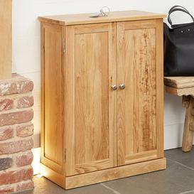 image-Fornatic Wooden Shoe Storage Cabinet In Mobel Oak