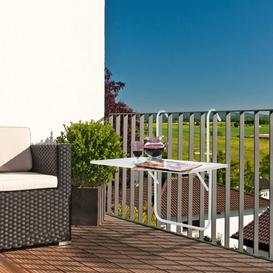 image-Brinly Folding Balcony Table