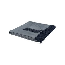 image-Fringed Beige Cotton Throw 160x210