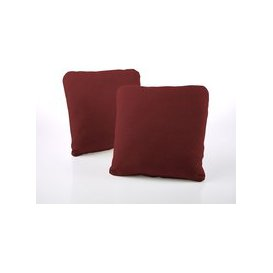 image-Jay-Be Square Cranberry Scatter Cushion (Pair)