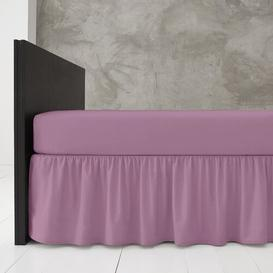 image-Block 144 Thread Count Valance Marlow Home Co. Bed Size: King (5'), Colour: Rose