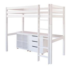 image-High Sleeper Bed With Drawers Little Folks Furniture
