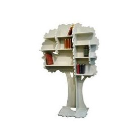 image-Mathy by Bols Childrens Tree Bookcase in Sam Design - Mathy Moss Grey