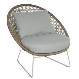 image-Mykonos Garden Lounge Chair  Camel and Linen