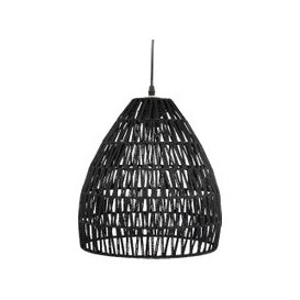 image-Black Woven Cotton Bell Pendant