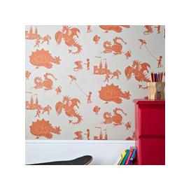 image-Designer Kids Wallpaper- 'Ere-Be-Dragons' in Orange