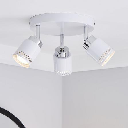 image-Nordby Piered 3 Light White Spotlight White