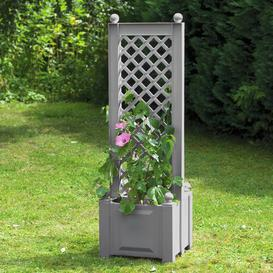 image-Zentral Plastic Planter Box with Trellis Sol 72 Outdoor