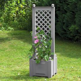 image-Zentral Plastic Planter Box with Trellis