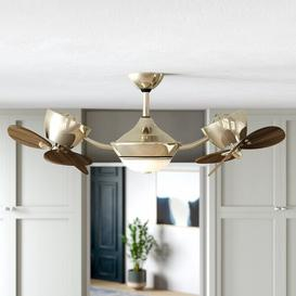 image-Deangelo 107cm 6 Blade Ceiling Fan with Remote Ebern Designs