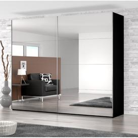 image-2 Door Sliding Wardrobe Rauch Colour: Black, Size: H223 x W271 x D69cm, Interior Option: Basic