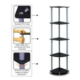 image-Elvin Corner Bookcase Zipcode Design