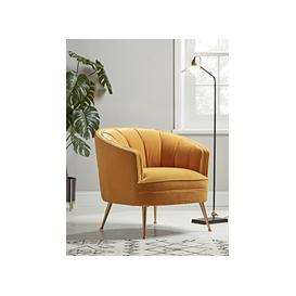 image-Riba Occasional Chair - Mustard Velvet