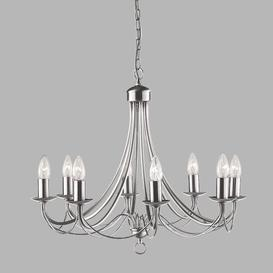 image-Arness 8-Light Candle Style Chandelier Three Posts Finish: Satin Silver