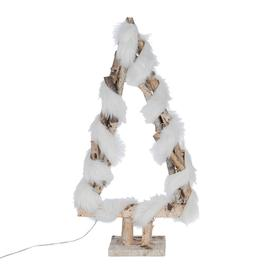 image-A by AMARA Christmas - Fur Wrapped Birch Lit Tree Ornament