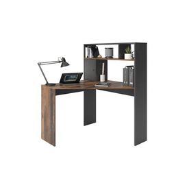 image-Okane Corner Desk Ebern Designs Colour: Dark Matera