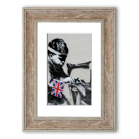 image-'Child Labour' Framed Graphic Art East Urban Home Size: 93 cm H x 70 cm W, Frame Options: Walnut
