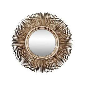image-Sunburst Mirror Antique Silver - Gold