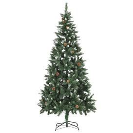 image-7ft Green Pine Artificial Christmas Tree with Stand Berkfield