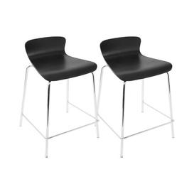 image-Eurydice 61cm Bar Stool Wade Logan Colour (Seat): Black