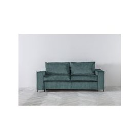image-George Three-Seater Sofa Bed in Turtle Green