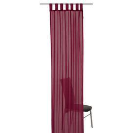 image-T-Plain Tab top Semi-Sheer Single Curtain Tom Tailor Colour: Bordeaux