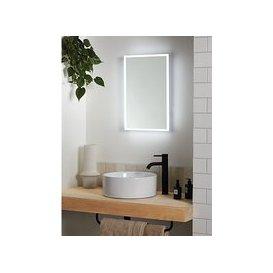 image-John Lewis & Partners Aura Wall Mounted Illuminated Bathroom Mirror, Small
