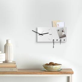 image-Wall Clock Key Hook Ebern Designs Finish: White