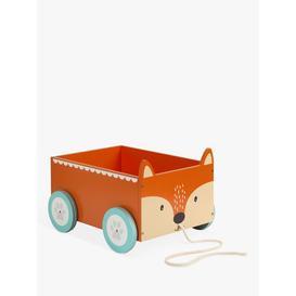 image-Great Little Trading Co Mr Fox Book Storage Cart, Orange