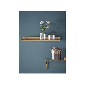 image-Slimline Metal Shelf - Brass