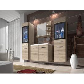 image-Skyler 4 Piece Bathroom Storage Furniture Set Belfry Bathroom With lighting: With RGB colour change lighting