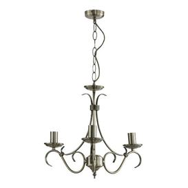 image-Barney 3-Light Candle Style Chandelier Three Posts Finish: Antique Brass