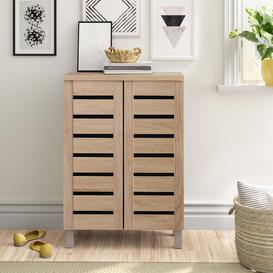 image-8 Pair Shoe Storage Cabinet Zipcode Design Finish: Oak